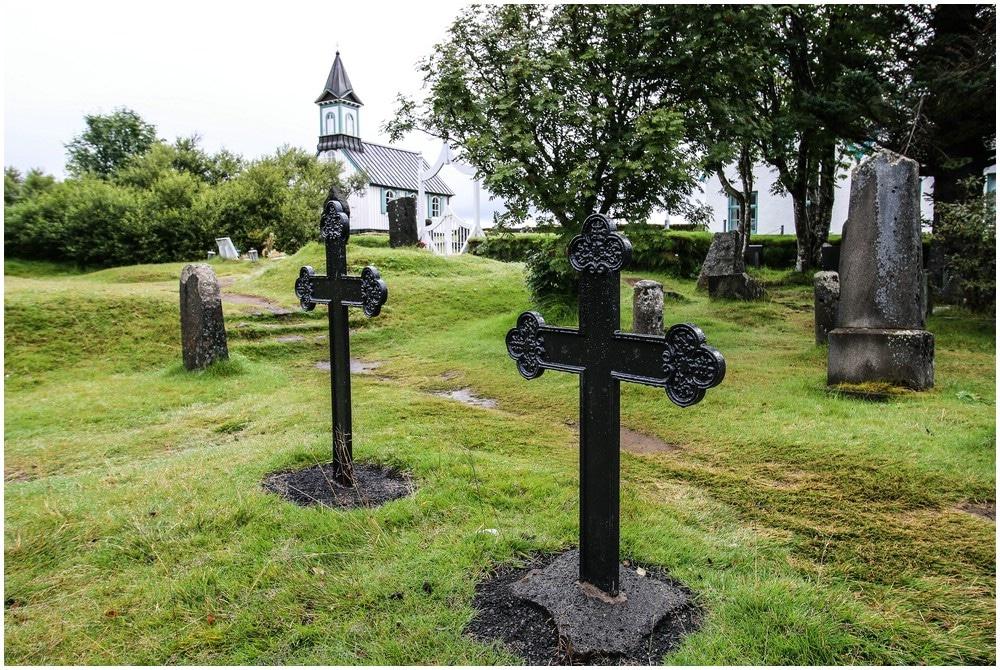 Der Friedhof in Thingvellir