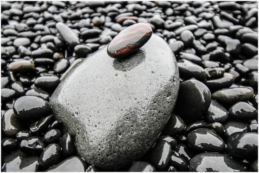 Vom Meer glattgeschliffene Steine