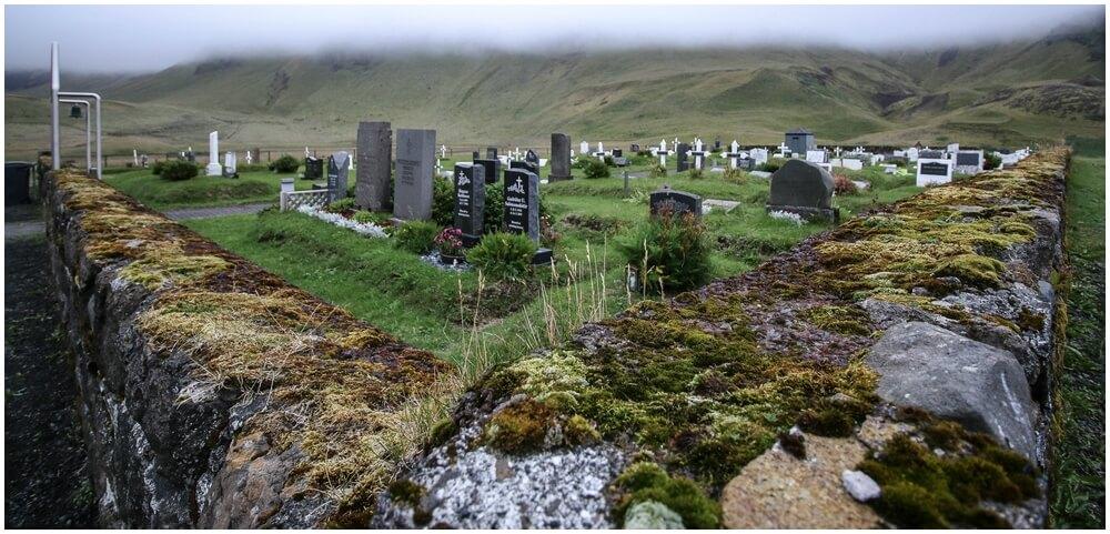 Der Friedhof von Vik i Myrdal