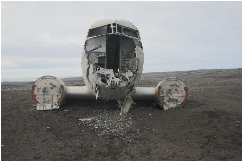 Die letzten Überreste eines der inzwischen wohl bekanntesten Flugzeugwracks der Welt