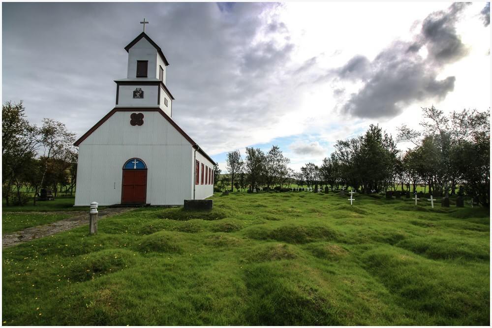 Prestbakkakirkja in der Nähe von Kirkjubæjarklaustur