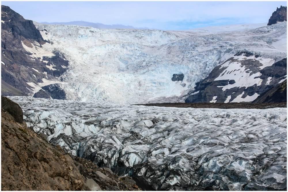 Svinafellsjokulsvegur Gletscherzunge