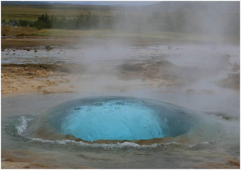 Strokkur Eruptionsblase