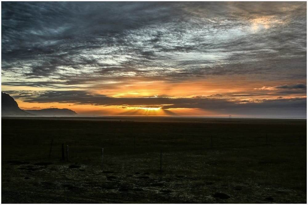 WENN die Sonne mal rauskommt hier auf Island, dann aber so richtig!