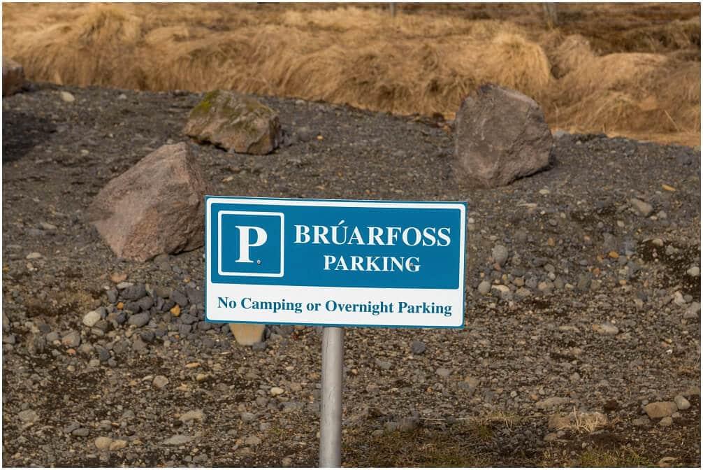 Hinweisschild Bruarfoss