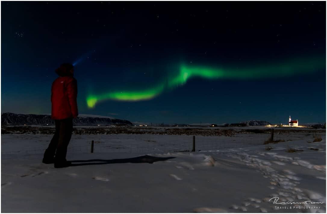 Aurora Borealis in der Nähe von Selfoss auf Island