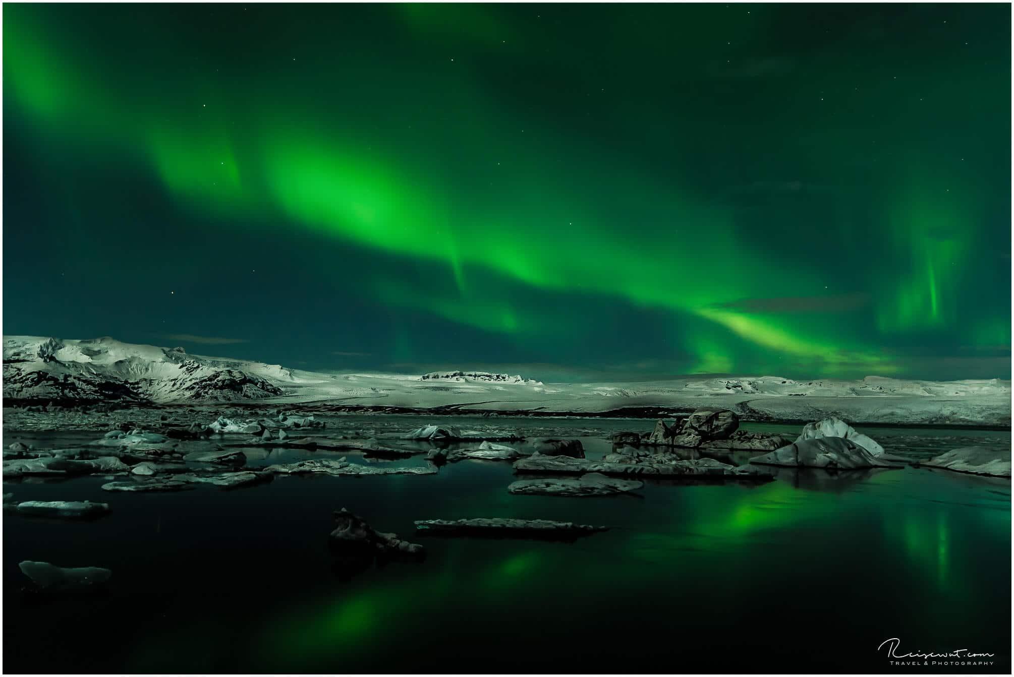 Aurora am Joekulsarlon