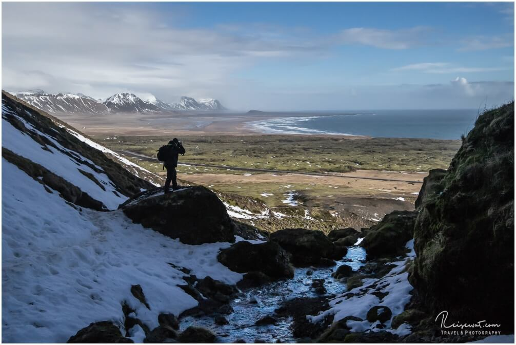Ausblick vor der Rauðfeldsgjá Gorge