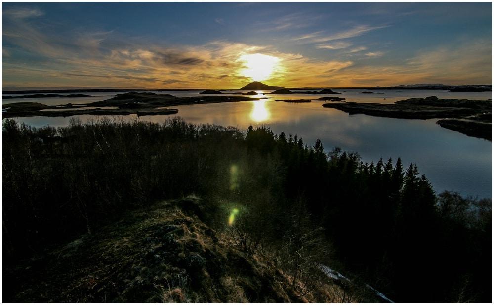 Sunset Myvatn