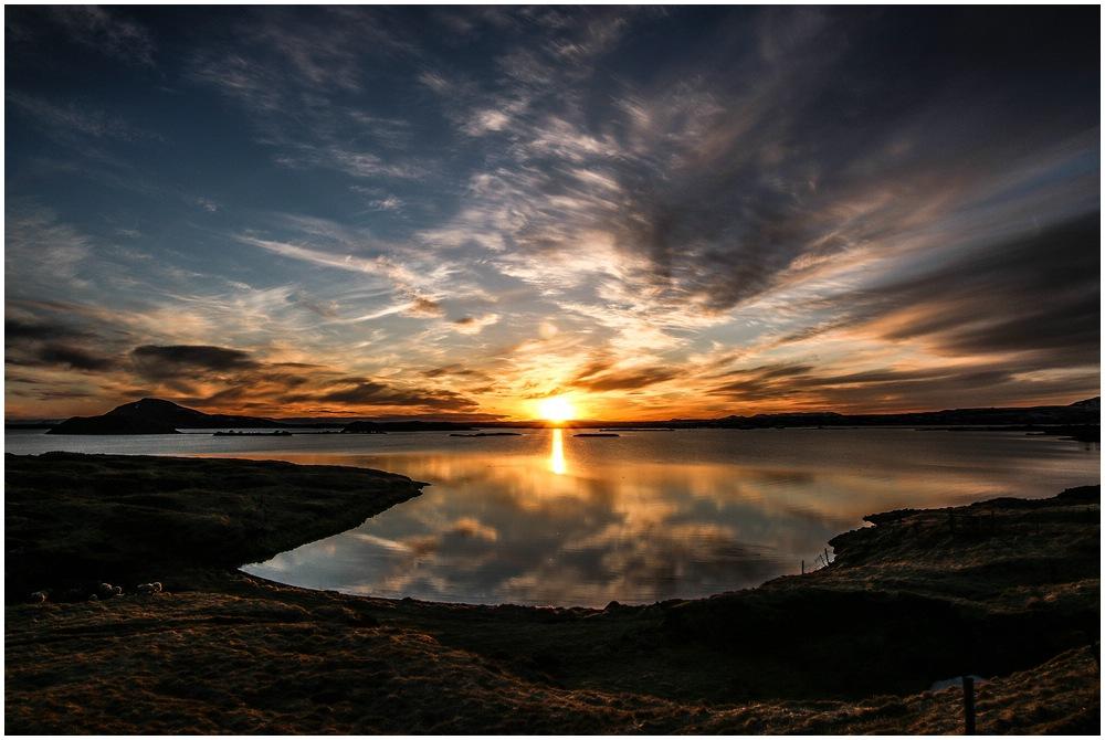 Myvatn Sonnenuntergang am Sunset Point