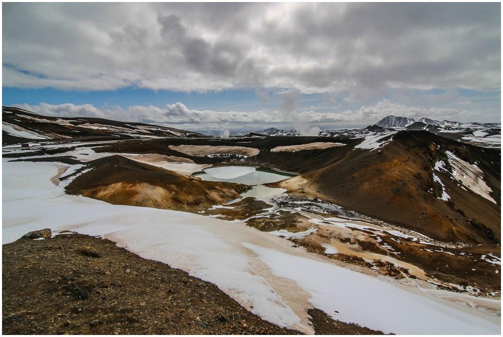 Was für eine Umgebung um den Viti-Krater herum