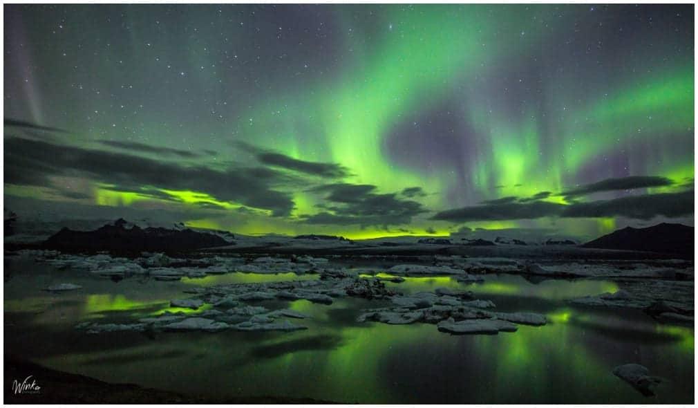 Aurora am Jökulsarlon ... aufgenommen von Kat Winka