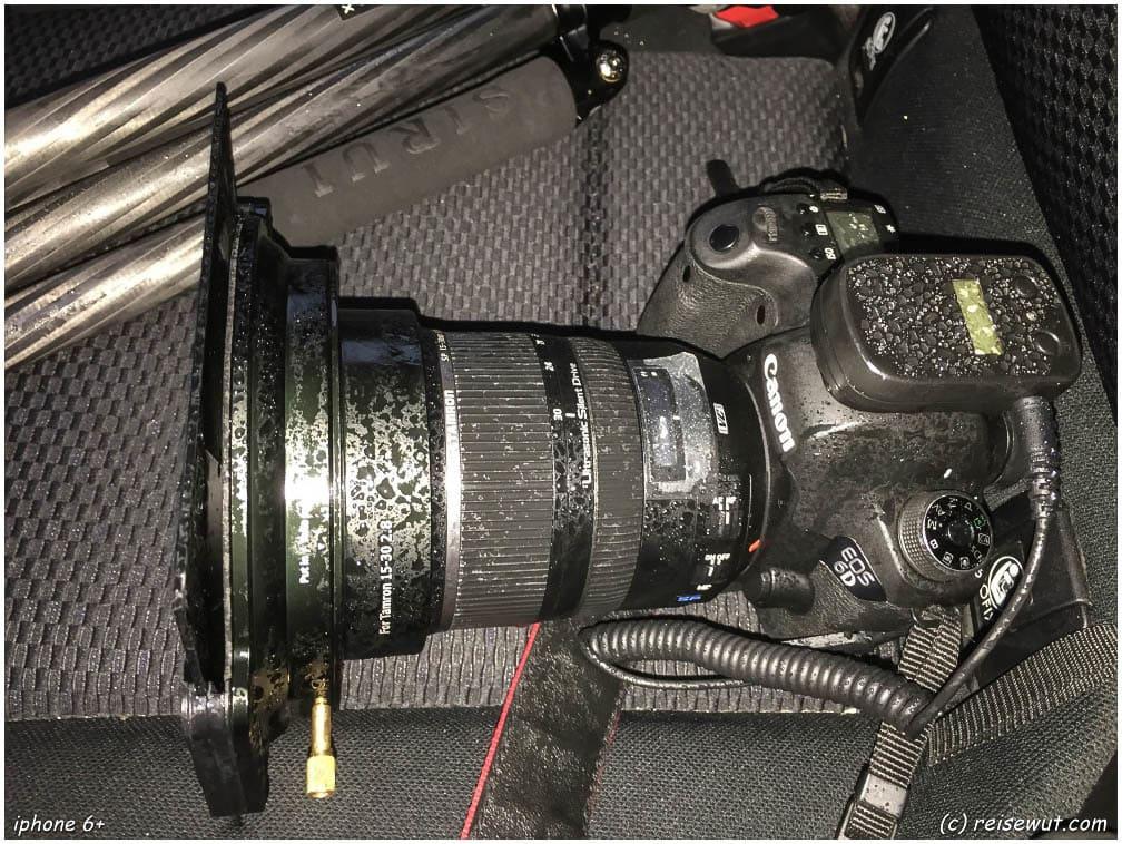 Das Kamera-Equipment muss auf Island ganz schön was mitmachen teilweise