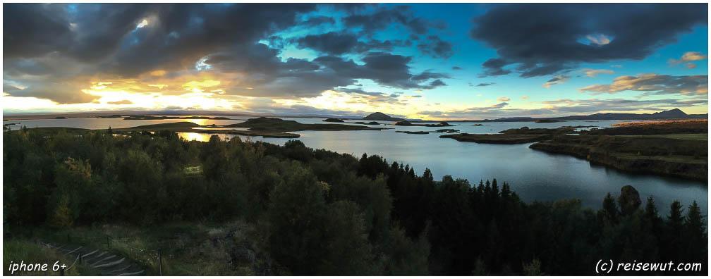 Wow, Sonnenuntergangsglück über dem Myvatn