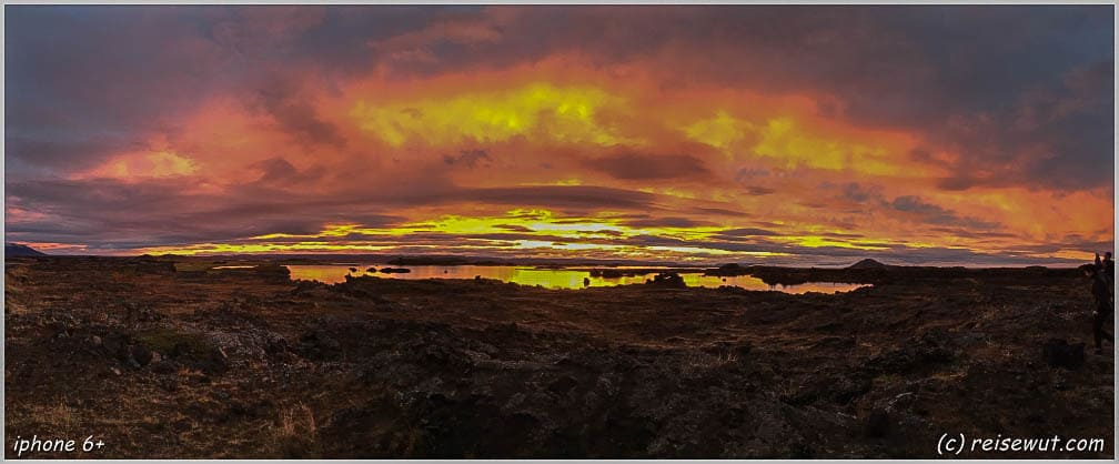 Sunset Explosion Myvatn iphone6+