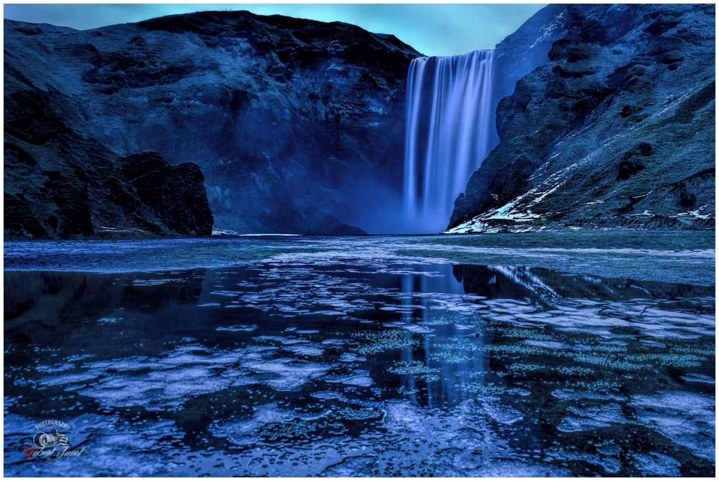Skogafoss Blue Hour