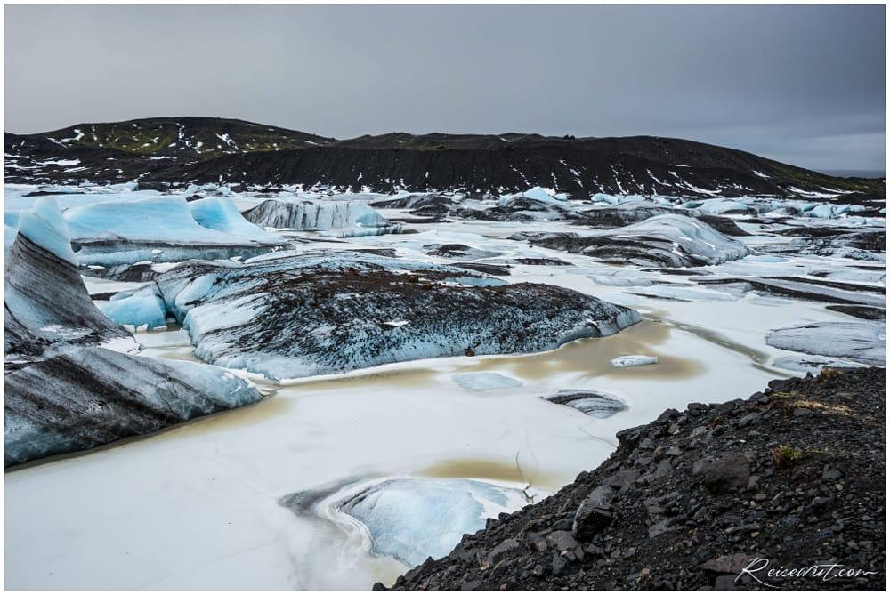 Die Lagune vorm Svinafellsjökull