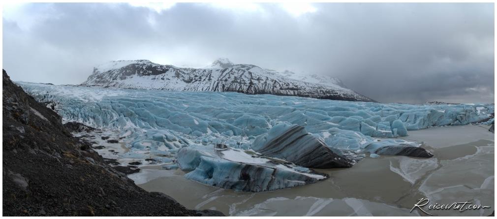 Panorama vom Svinafellsjökull