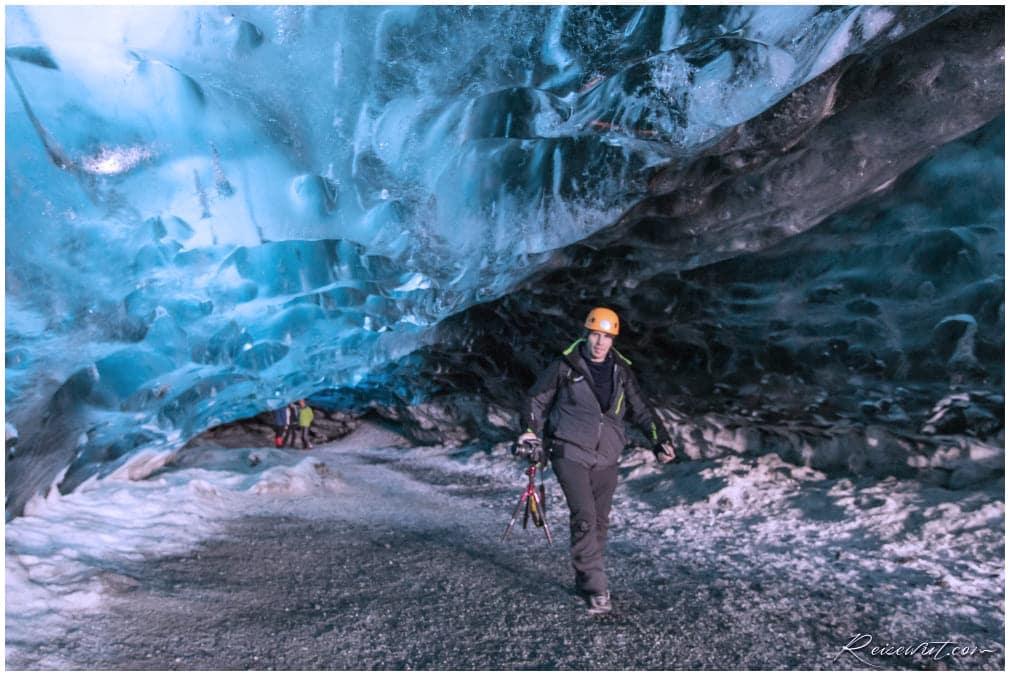 Robert auf dem Weg aus der Crystal Cave