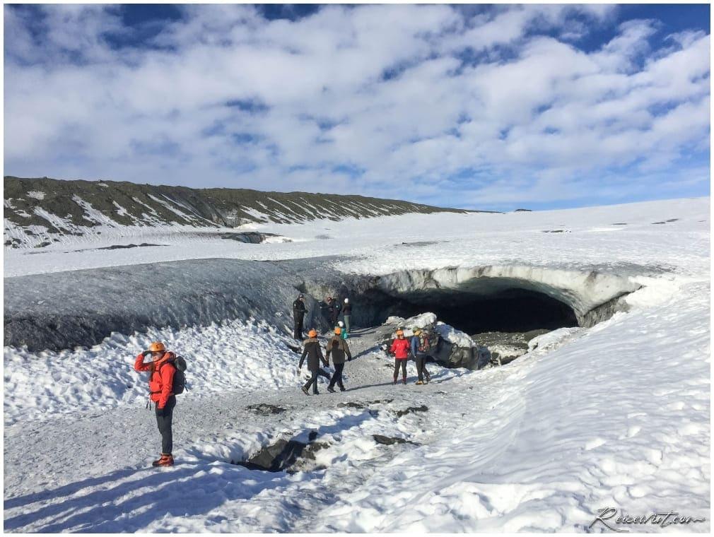 Der Eingang der Crystal Cave Eishöhle