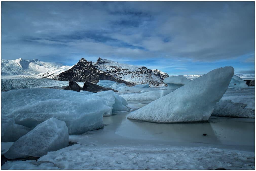 Bizarre Eisformationen am Fjallsárlón