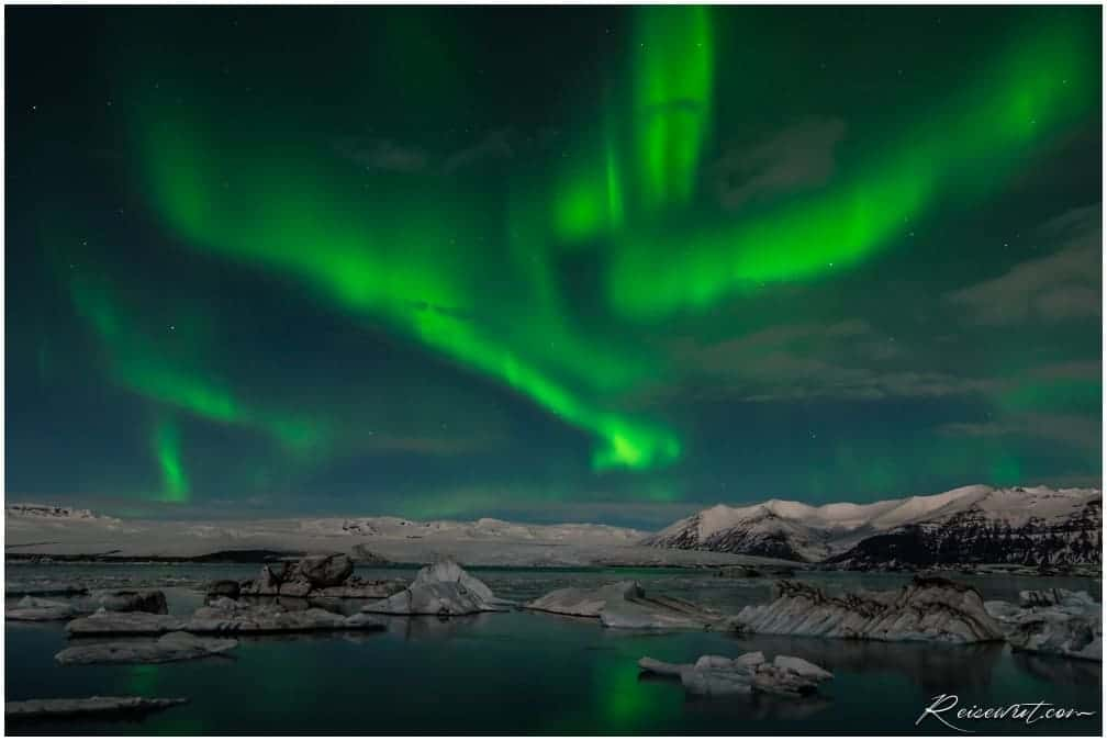 Northern Lights Glacier Lagoon Iceland