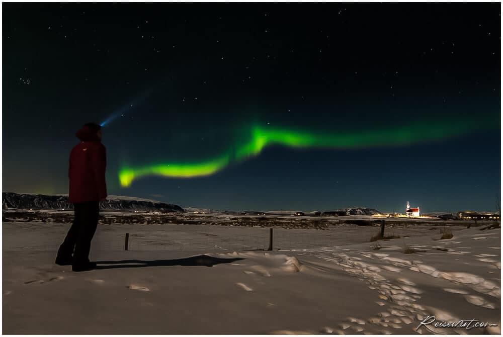 Nordlicht bei Selfoss
