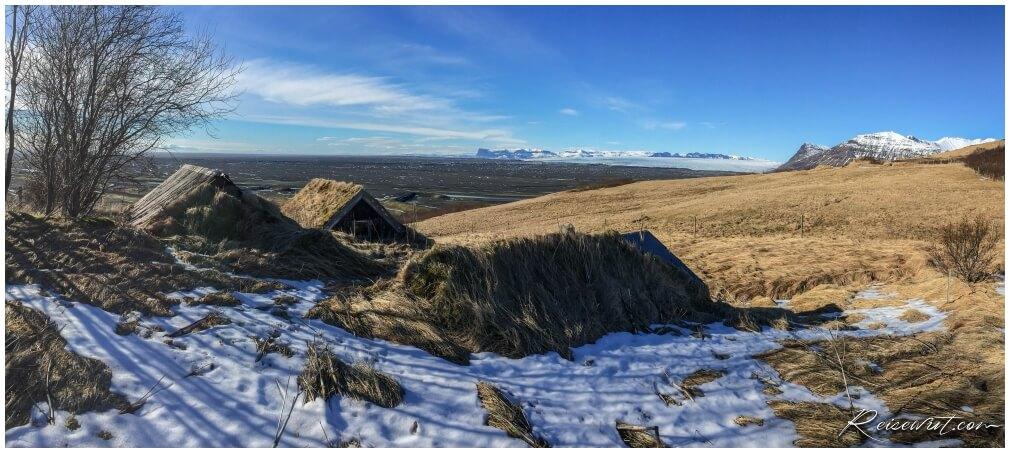 Torfhütten im Skaftafell National Park