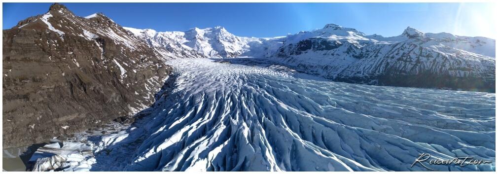 Sölheimajökull Gletscher aus der Luft