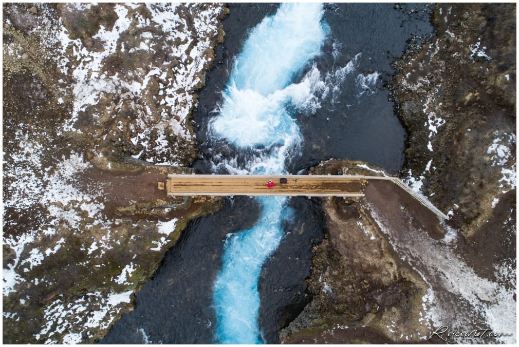 Bruarfoss from above
