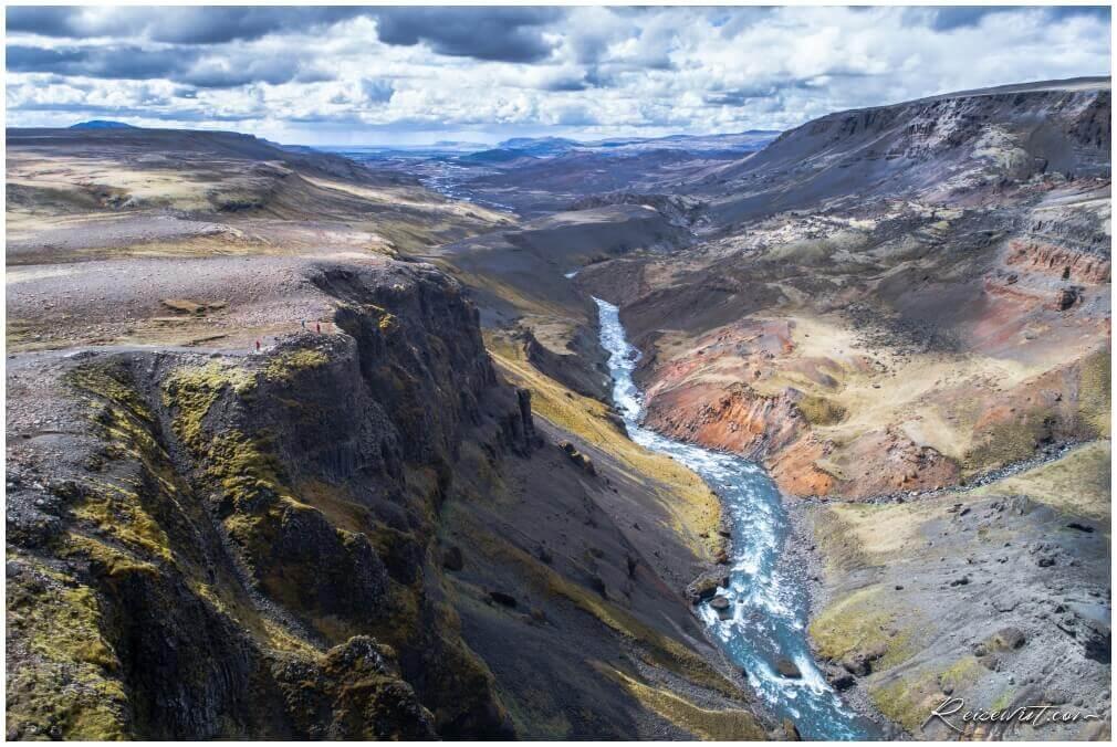 Der Canyon beim Haifoss