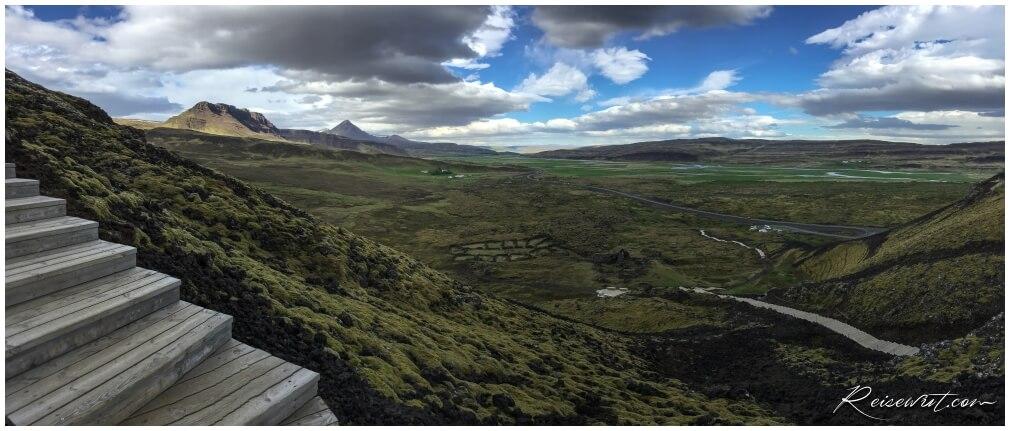 Aufstieg auf den Grabrok Krater