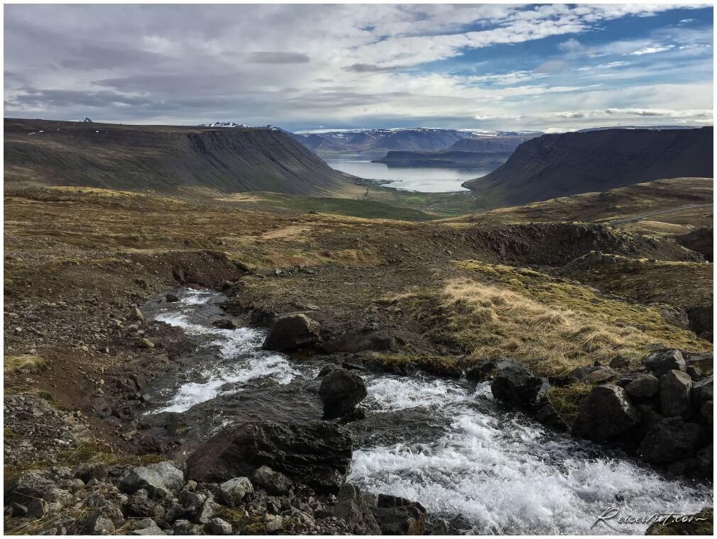 Bildudalsvegur, die Island Westfjorde zeigen sich von Ihrer schönsten Seite