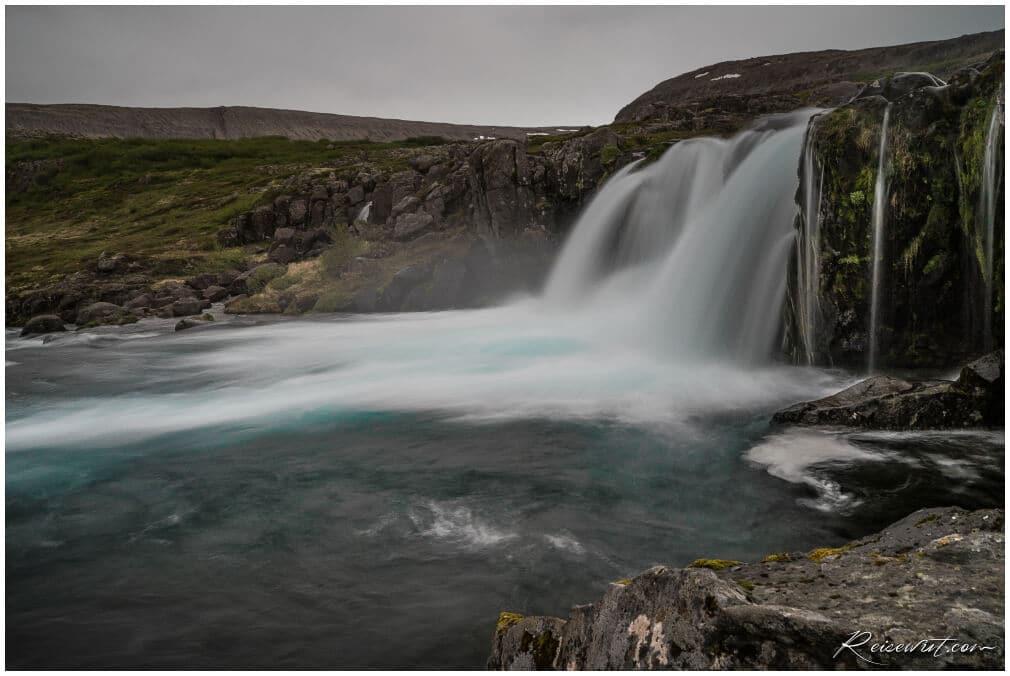 Dynjandi, einer der unteren Wasserfälle