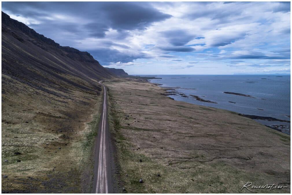 Klofningsnes Peninsula aus 60m Höhe