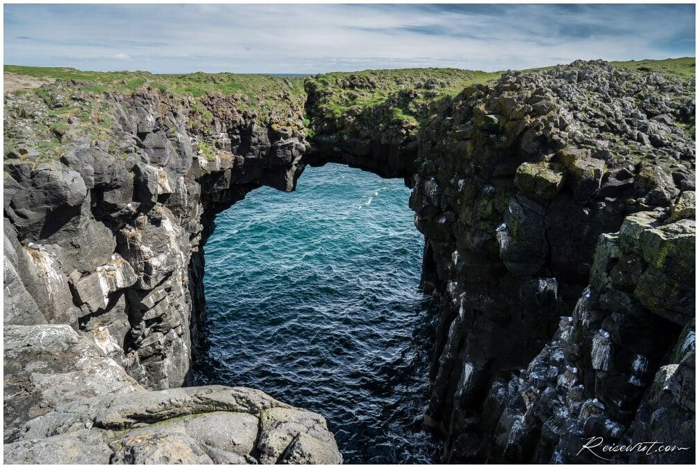 Arnarstapi Sea Arch Miðgjá