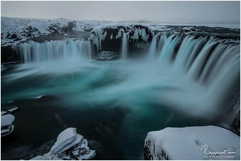 Den Goðafoss kann man selbst im Winter problemlos besuchen
