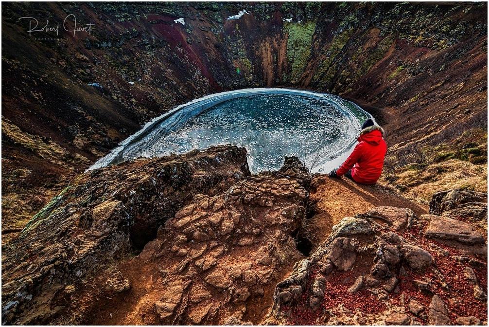 Der gefrorene Kerið Krater