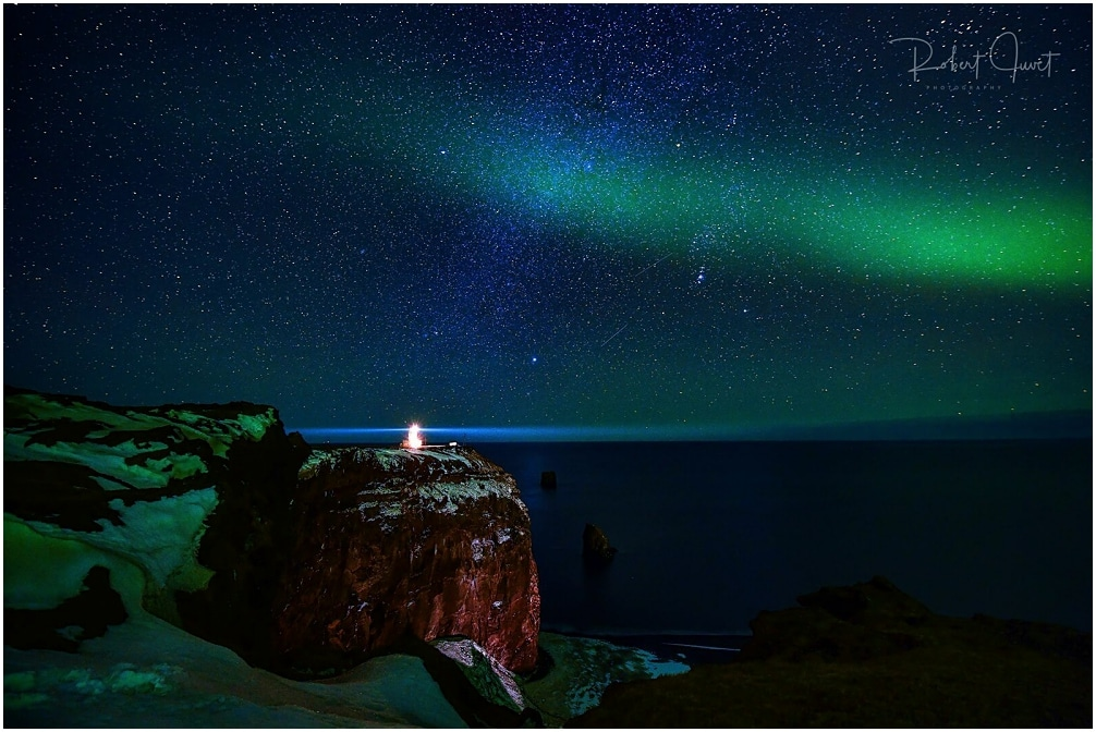 Polarlichter über Kap Dyrholaey