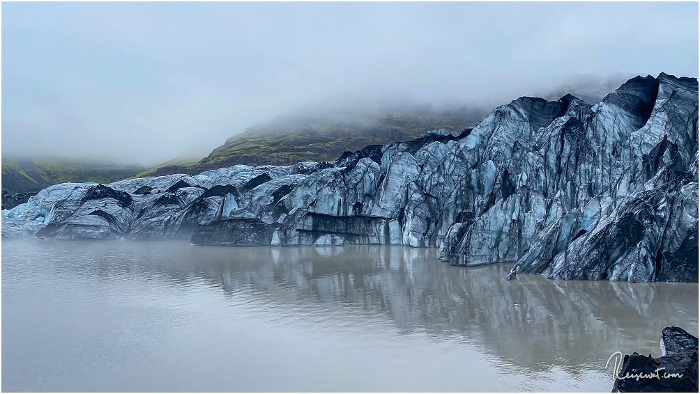 Die Abbruchkante des Solheimajökulls