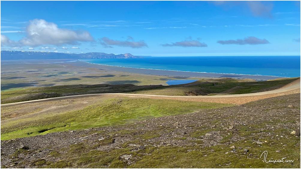 Gigantische Aussicht heute in Richtung Meer und Þerribjörg Cliffs