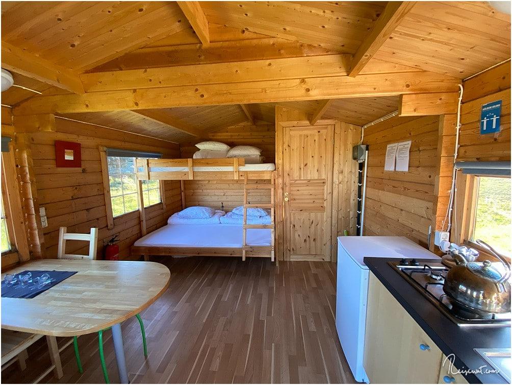 Auch die Hütten des Highlandcenters sind wieder vorbildlich ausgestattet