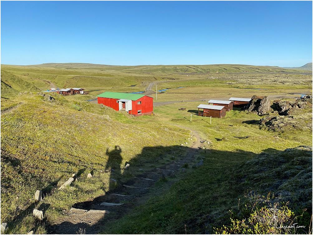 In der rechten vorderen Hütte haben wir die Nacht verbracht