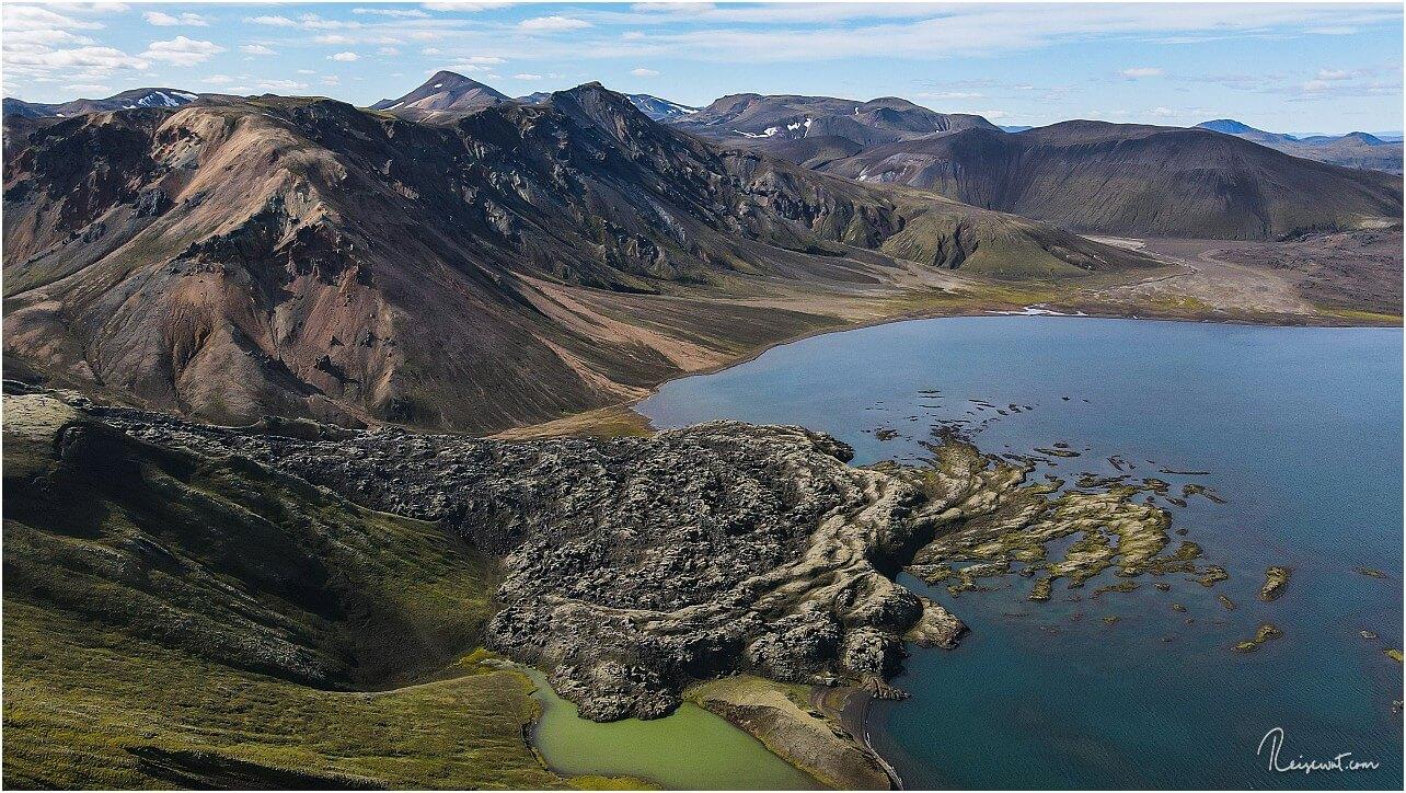 Der erstarrte Lavafluss im Frostadavatn