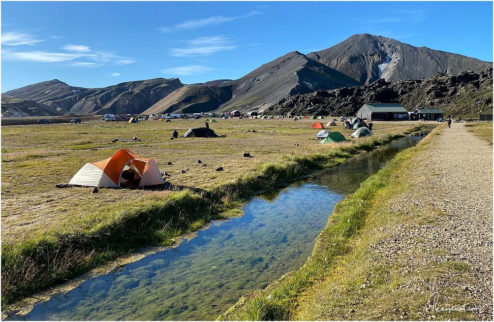 Nicht viel los zur Zeit auf dem Campingplatz bei Landmannalaugar