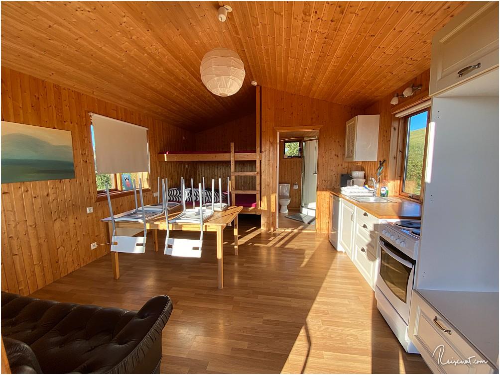 Die Hütten bei Rjupnavellir sind großzügig ... sowohl vom Raum als auch von der Ausstattung her