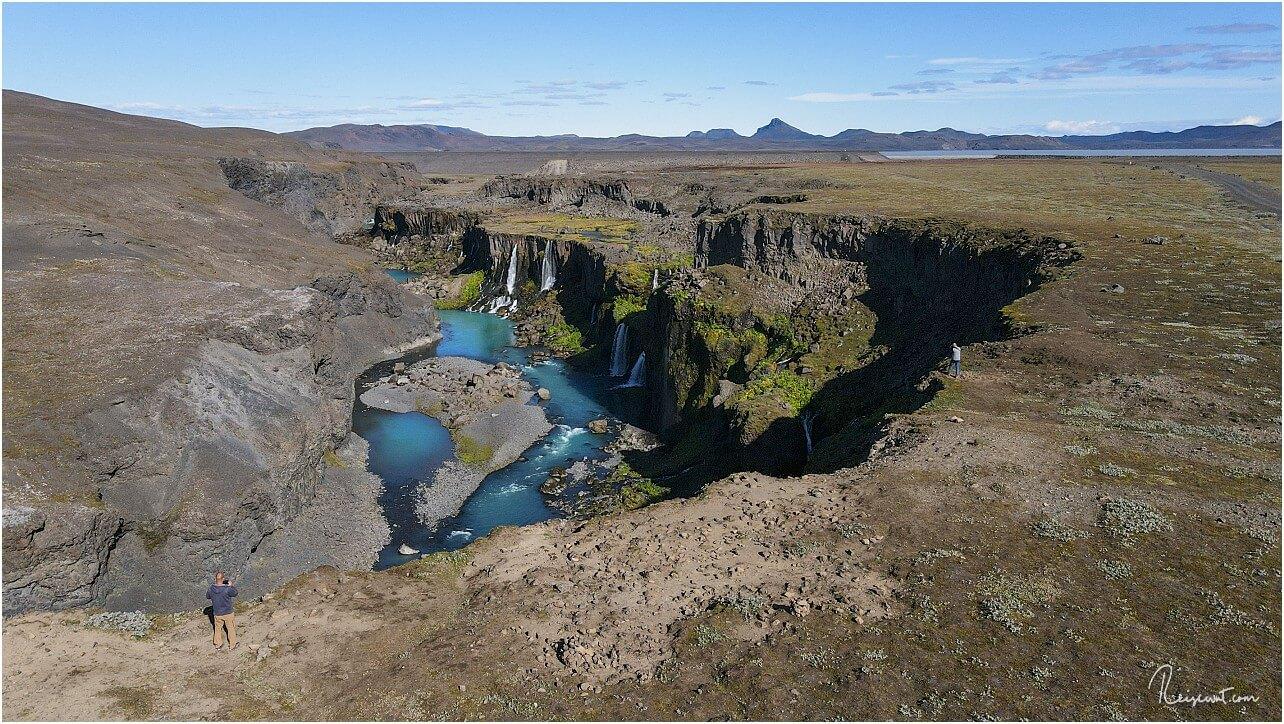 Erneuter Besuch des Sigöldugljùfur Canyons am Rande des Hochlandes