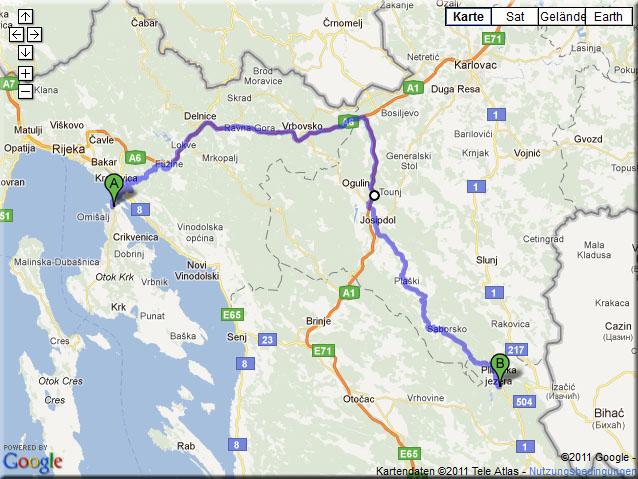 Anfahrt von Rijeka