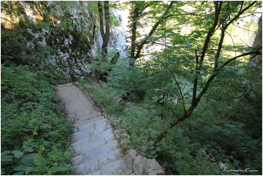 Switchbacks nach oben zum Rim Trail