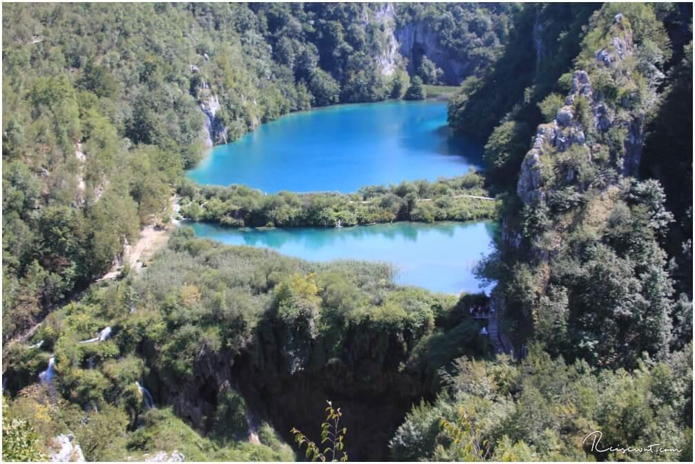 Die Aussicht vom Vidikovac Scenic Point an den Plitvicer Seen